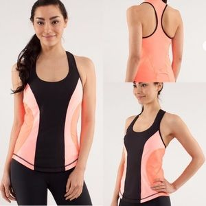 Lululemon Cardio Kick Tank Coral Orange Pink Top 6